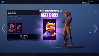 "Achat de ""Beef Boss"" SKIN (fr) Shopping #1 FORTNITE BATTLE ROYALE"