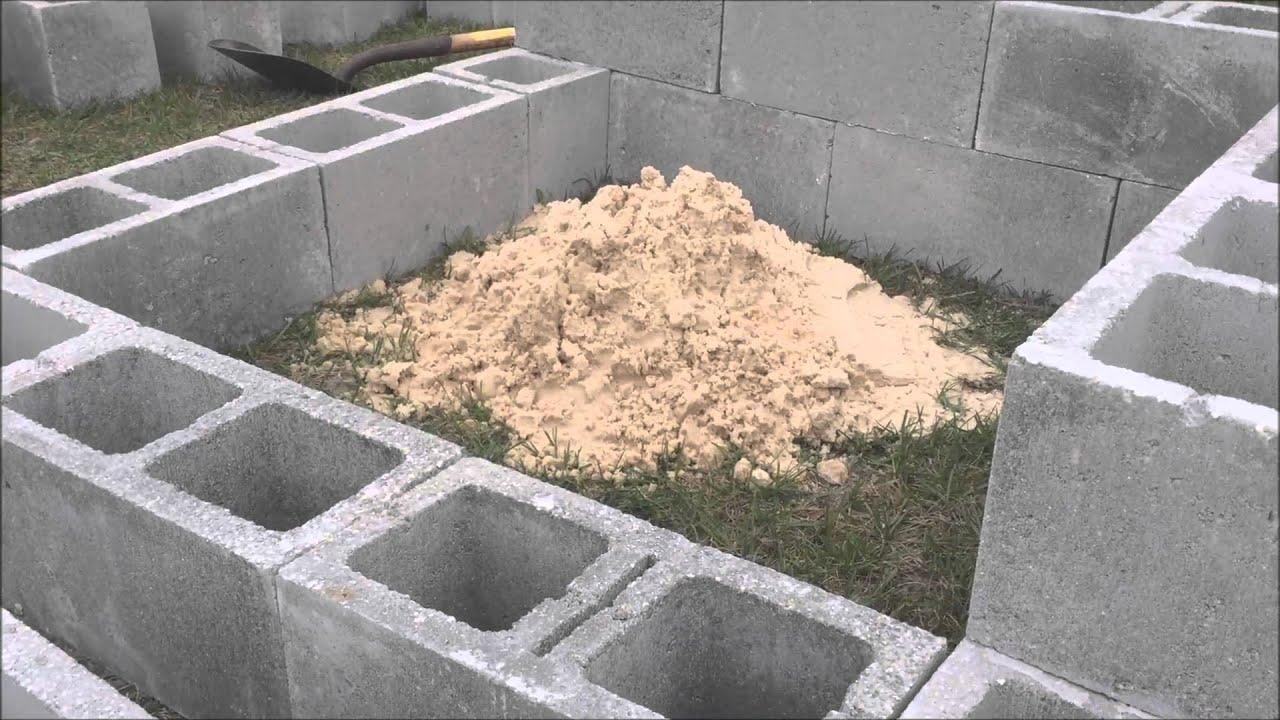 Cinder block Fire pit | Doovi on Simple Cinder Block Fireplace id=52596