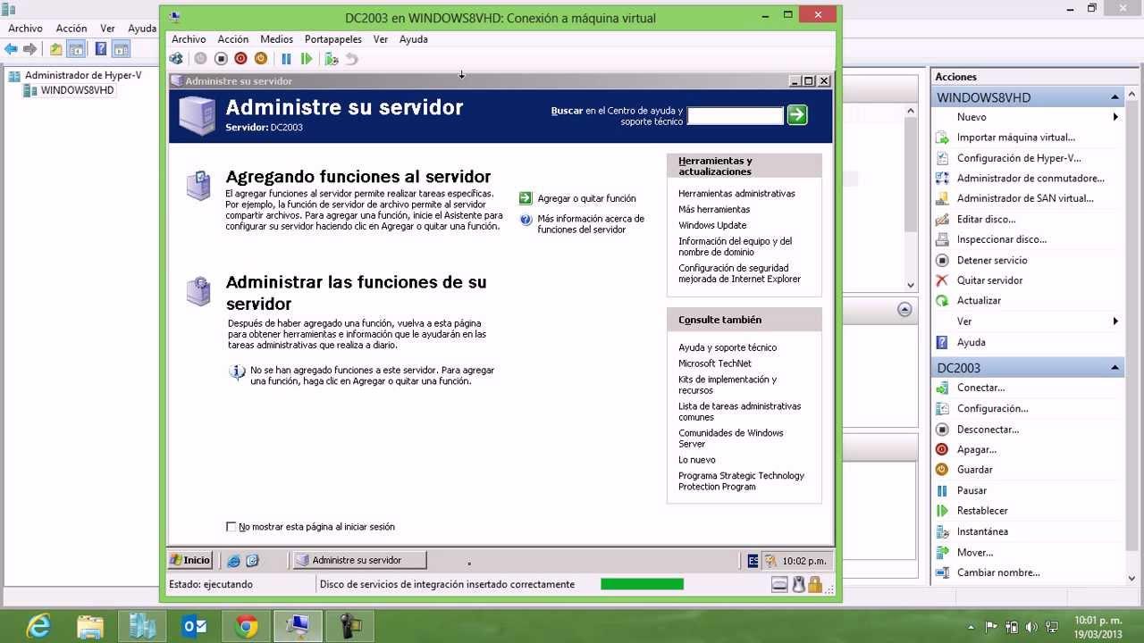 Instalar Integration Services de Hyper-V 3.0 en Windows Server ...