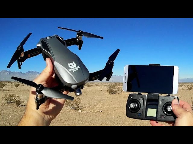FQ777 F8 Monster Drone Brushless GPS 2 Axis Gimbal FPV Camera Drone Flight Test Review