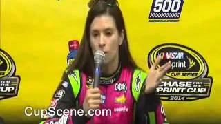 NASCAR at Martinsville Speedway Oct., 2014: Danica Patrick pre-race