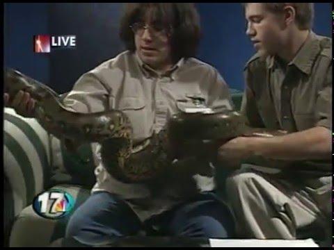 Larry Pickett, a roach, millipede, scorpion and snake!
