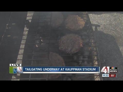 Tailgating underway at Kauffman Stadium
