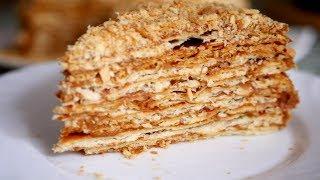 НАПОЛЕОН С НЕОБЫЧНЫМ КРЕМОМ. Вкусный домашний торт
