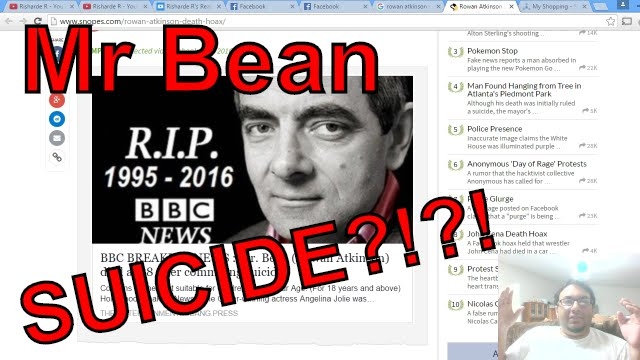 Mr Bean Rowan Atkinson Dead From Suicide Youtube