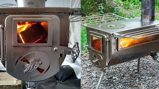 Woodlander DBL View - Epic Wood Stove for Winter Camping by Winnerwell