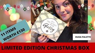 GLOSSYBOX LIMITED EDITION CHRISTMAS BOX - 11 ITEMS !! HUDA