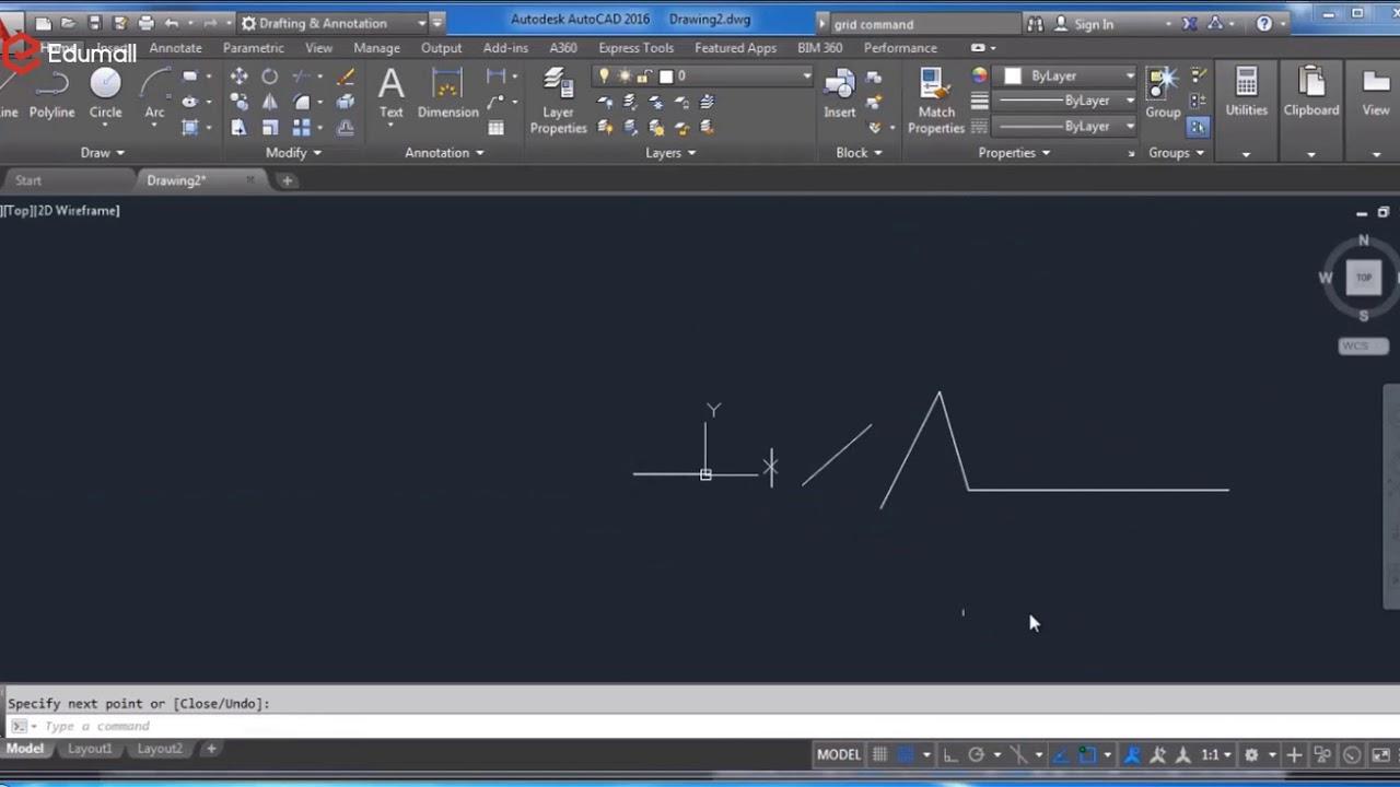 Học AUTOCAD 2D cơ bản. Sử dụng Ortho Mode và Polar Tracking trong Autocad