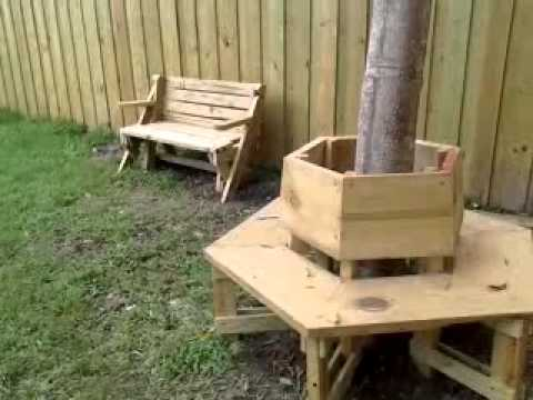 Banca en el arbol youtube for Bancas para jardin