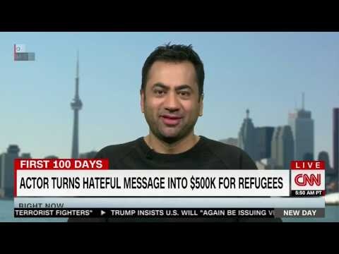 Actor 'Kal Penn' repsonds to racist by raising over HALF A MILLION DOLLARS