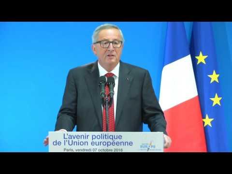 L'avenir politique de l'Union européenne - Jean-Claude Juncker 7.10.16