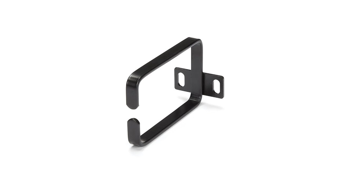 Horizontal Rack Mount Cable Management Bracket 1U With 4 D-Rings 2-Inches Deep