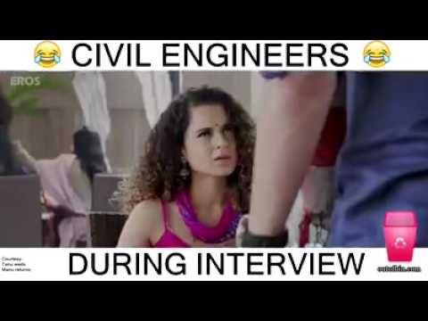 Funny Meme Engineering : Civil engineer interview most funny dialogue youtube