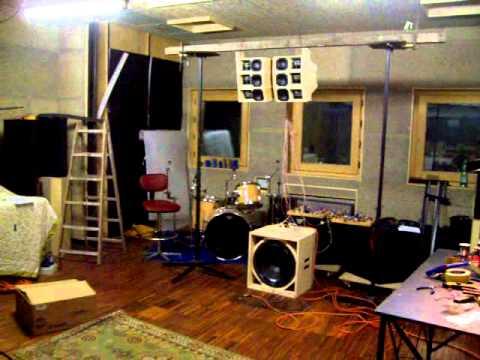 Diy Line Array Built Using Faitalpro Loudspeakers And Rcf