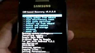How to Install Android Jelly Bean 4.2.2 on Samsung Galaxy Gio 100% Working