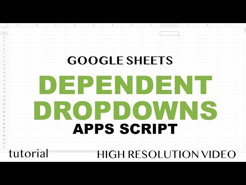 Google Sheets - Dependent Dropdown List for Entire Column - Apps Scipt, Match Alternative - Part 2