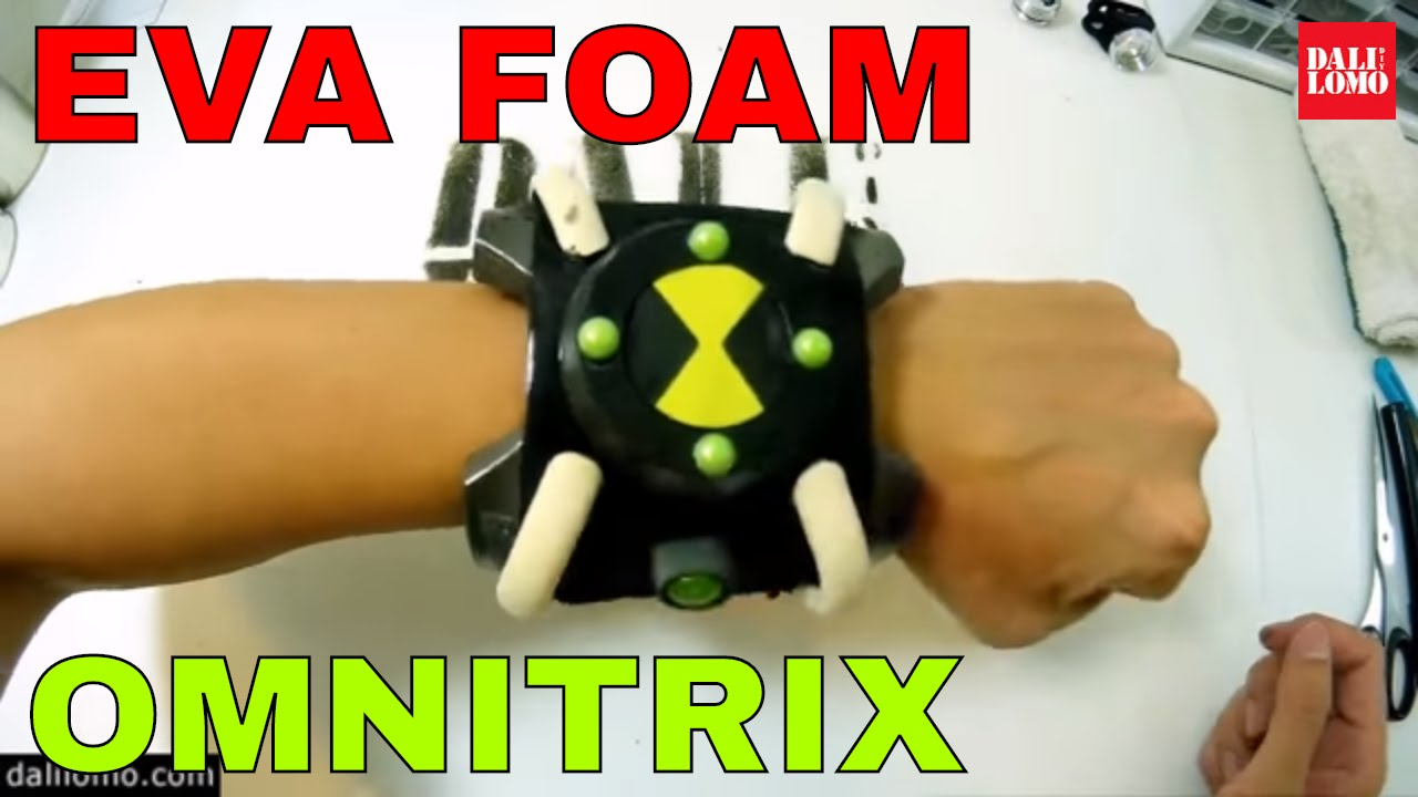 diy ben 10 omnitrix for cartoon network eva foam prop how to youtube