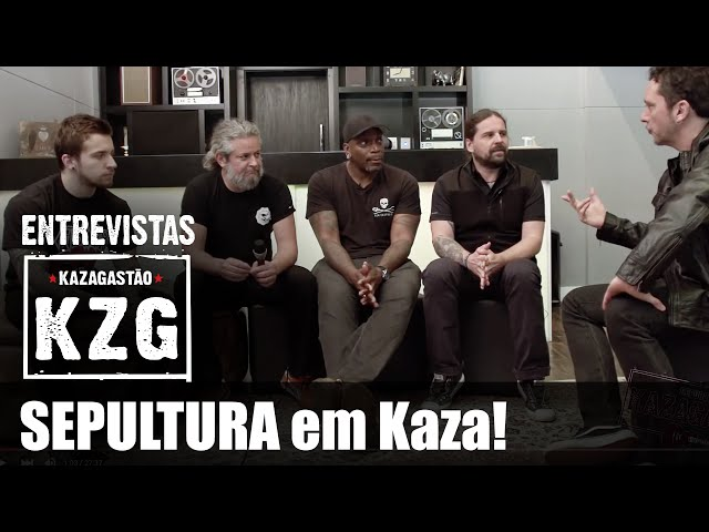 SEPULTURA em Kaza! - entrevistado por Gastão Moreira