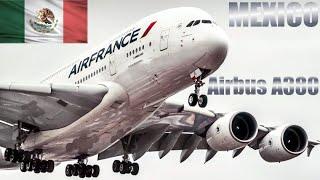 El Airbus A380 llegó a México, el avión comercial más grande del mundo