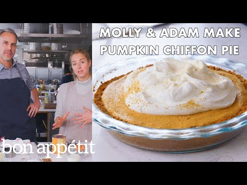 Molly and Adam Make Pumpkin Chiffon Pie | From the Test Kitchen | Bon Appétit