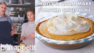 Molly and Adam Make Pumpkin Chiffon Pie | From the Test Kitchen | Bon Apptit