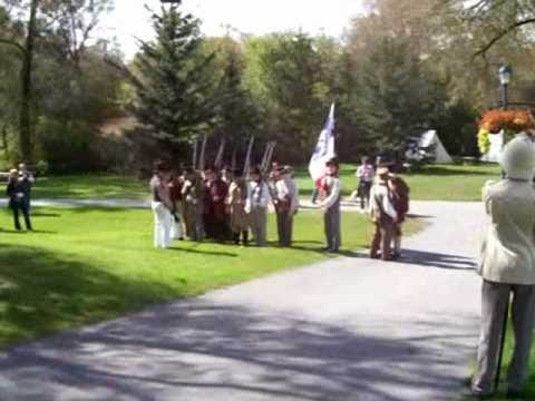 Musket practice at the Rebel encampment in Newmarket, Upper Canada - Rebellion of 1837