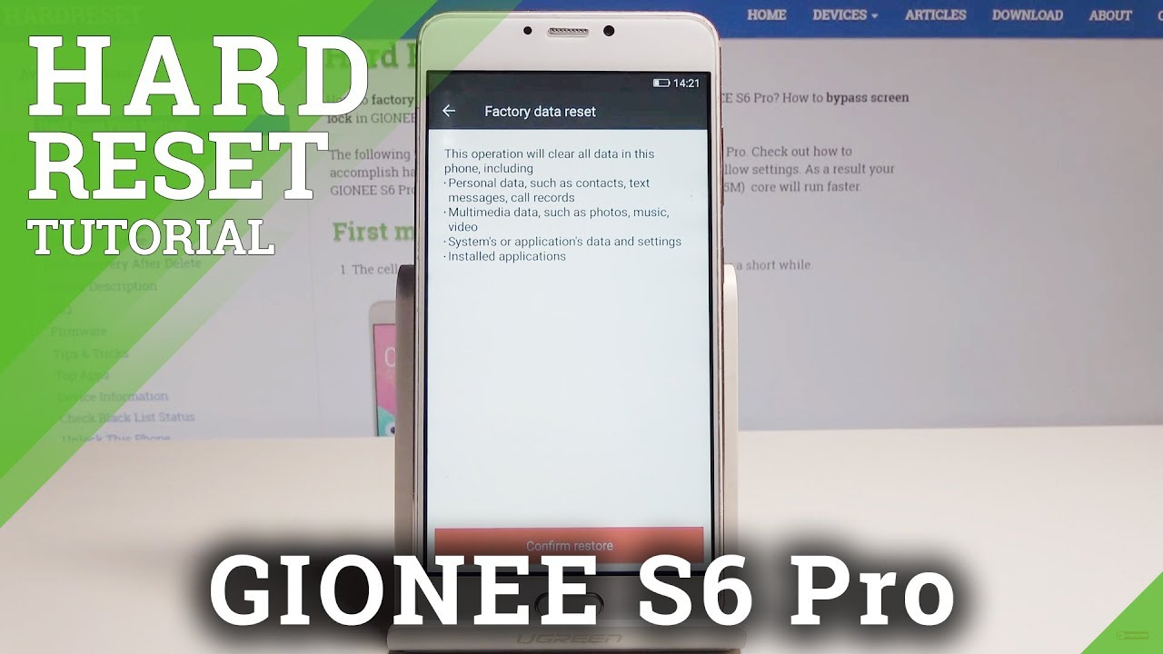 How to Factory Reset GIONEE S6 Pro - Wipe Data Tutorial