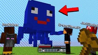 so today i annoyed Minecraft YouTubers with the most ANNOYING Minecraft troll..