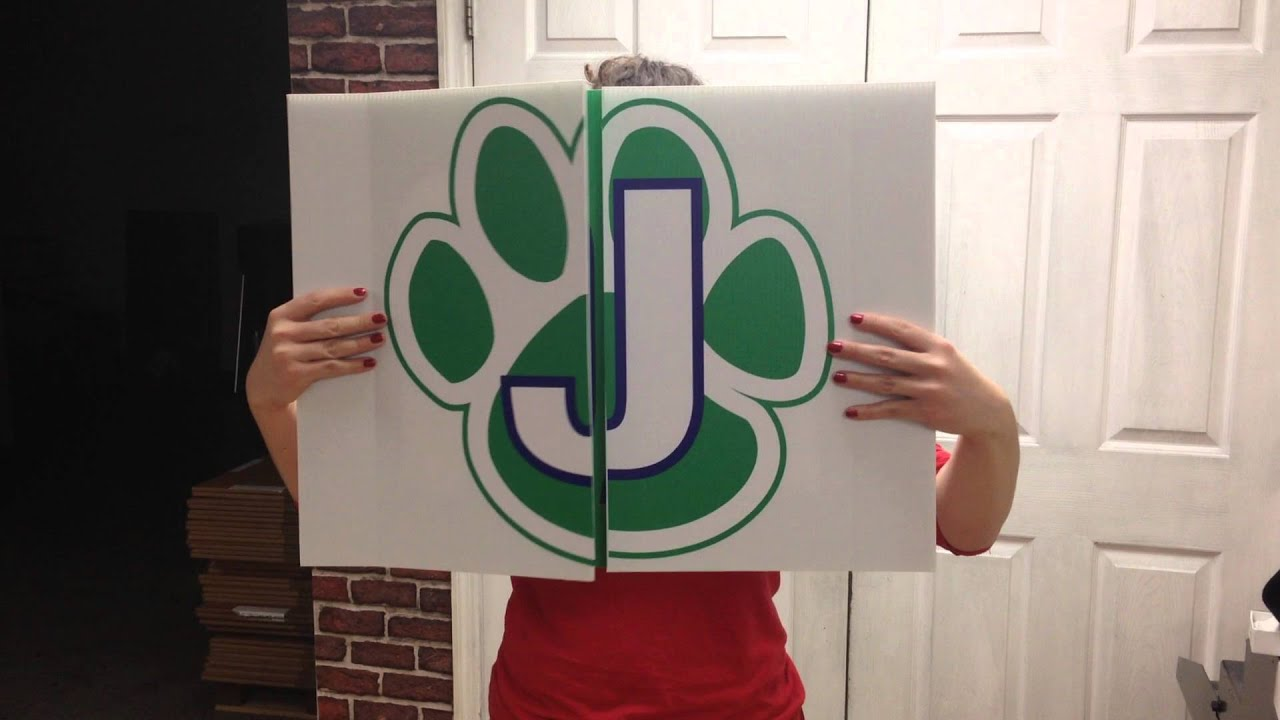 folding cheer sign youtube