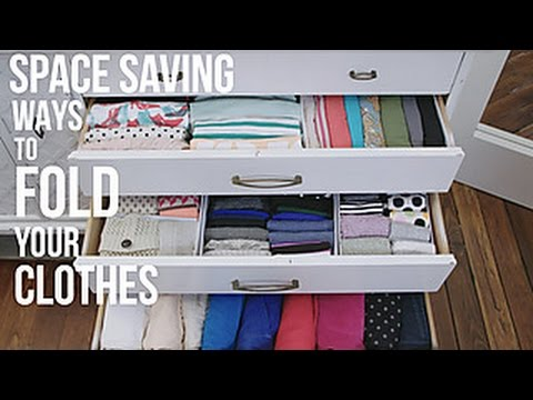 how to fold your clothes to save space hgtv youtube. Black Bedroom Furniture Sets. Home Design Ideas