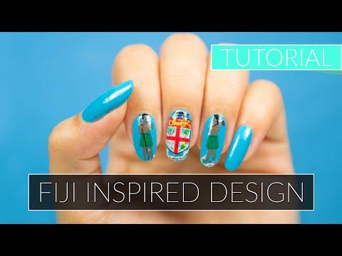 Fiji Inspired Nail Design Tutorial | Easy Nail Art Series