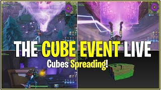 *NEW* Fortnite: THE CUBE EVENT HAPPEN! *Cubes Spreading!* | (Cube Event Live)