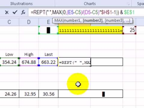 Show Stock Price With In-Cell Dot Plot Chart in Excel - YouTube
