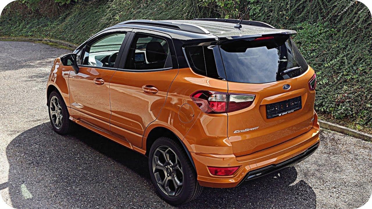 2018 ford ecosport st line calypso orange interior. Black Bedroom Furniture Sets. Home Design Ideas