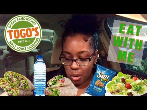 TOGOs Eat With Me 🌯🥗 | Vegetarian | Eating Show |  Are Chem Trails Real?! ✈️💨😷