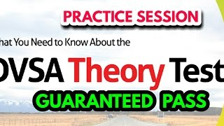 THEORY  TEST PRACTICE        HOW TO PASS THEORY FIRST TIME