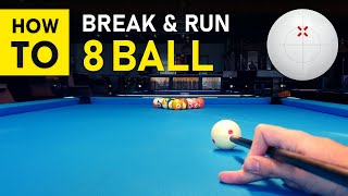 Pool Lesson | H๐w To Break & Run 8 Ball Step by Step - GoPro