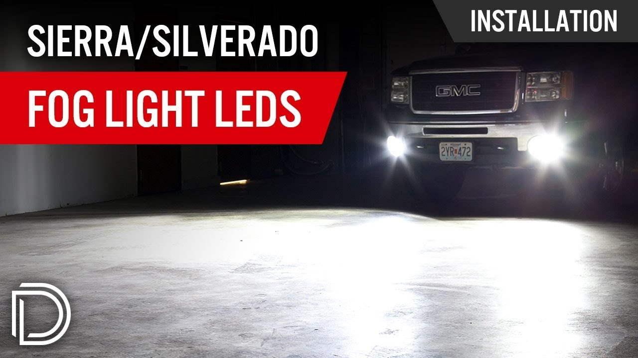 how to install led fog lights on gmc sierra chevy silverado [ 1280 x 720 Pixel ]