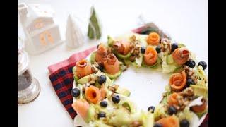 아보카도연어샐러드, 크리스마스 리스 샐러드로 화사한 홈…