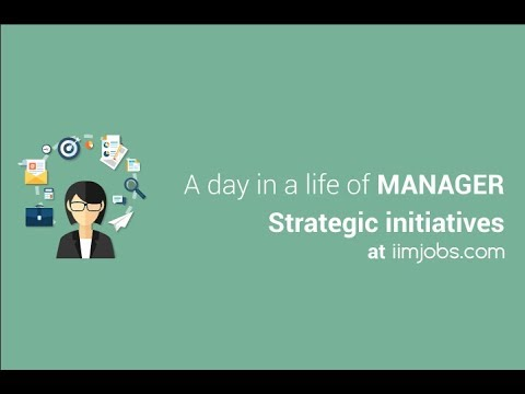 A day in a life of Manager Strategic initiatives | iimjobs.com