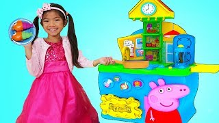 Emma Pretend Play with Peppa Pig Kitchen Cooking Toy Playset