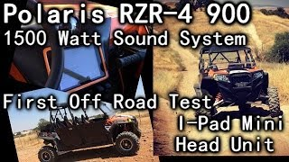 first off road test 1500 watt polaris rzr 4 900 sound system ipad mini head unit