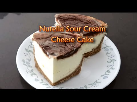 Nutella Sour Cream Cheese Cake