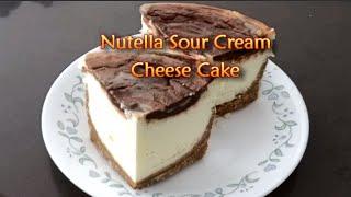 Nutella Sour Cream Cheese Cake