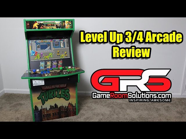 Level Up 3/4 Size Arcade Review - Game Room Solutions 22 Inch Display 3/4 Cab