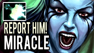 Please BAN Miracle!!! Machine Gun Imba Queen of Pain 36 Kills 100k DMG 900 GPM Dota 2