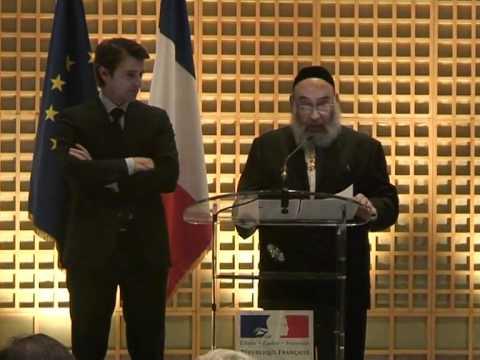 Le Grand Rabbin René Samuel Sirat fait Grand Officier de l