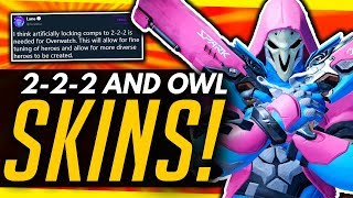 Overwatch | 450+ NEW OWL SKINS, 2-2-2 Discussion & HotS