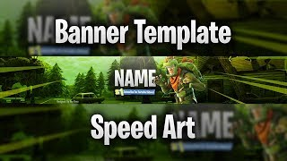 Fortnite Battle Royale YouTube Banner Template (Free) (+Speed Art) (Adobe Photoshop)