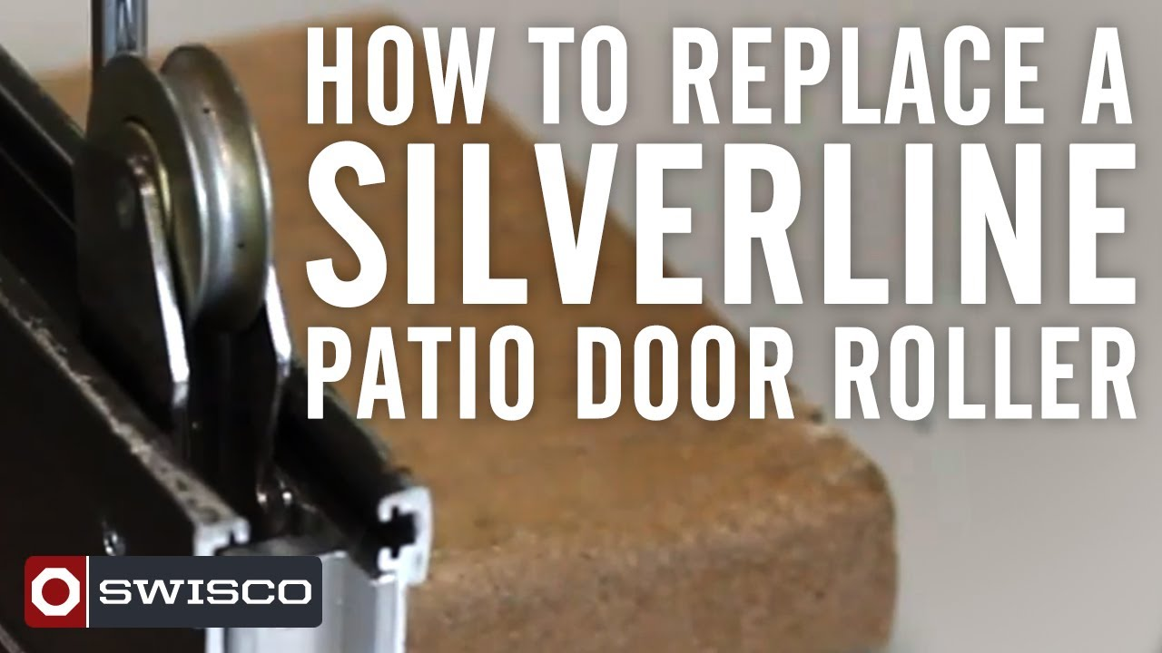 How to replace a Silverline patio door roller  YouTube